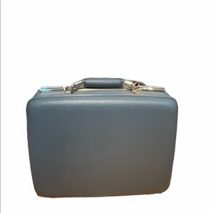 Vintage 1960s Blue American Tourister Suitcase